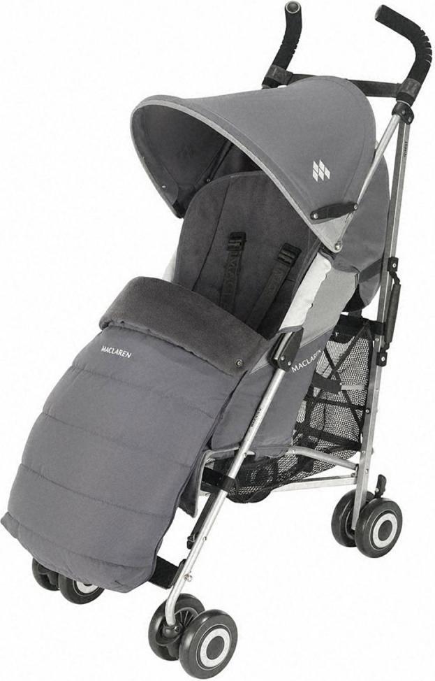 Maclaren Муфта для ножек для коляски CharcoalASE02022Муфта для ног универсальная для колясок MACLAREN. Создана для того, чтобы ребенок мог путешествовать стильно и комфортно. Быстро и просто крепится к коляске, обеспечивает роскошную мягкую внутреннюю обивку на всю длину сиденья. Передняя панель легко отстегивается для того, чтобы быстро посадить или взять ребенка из коляски. Матрасик можно использовать отдельно (без муфты). Подходит ко всем коляскам-тростям Maclaren.