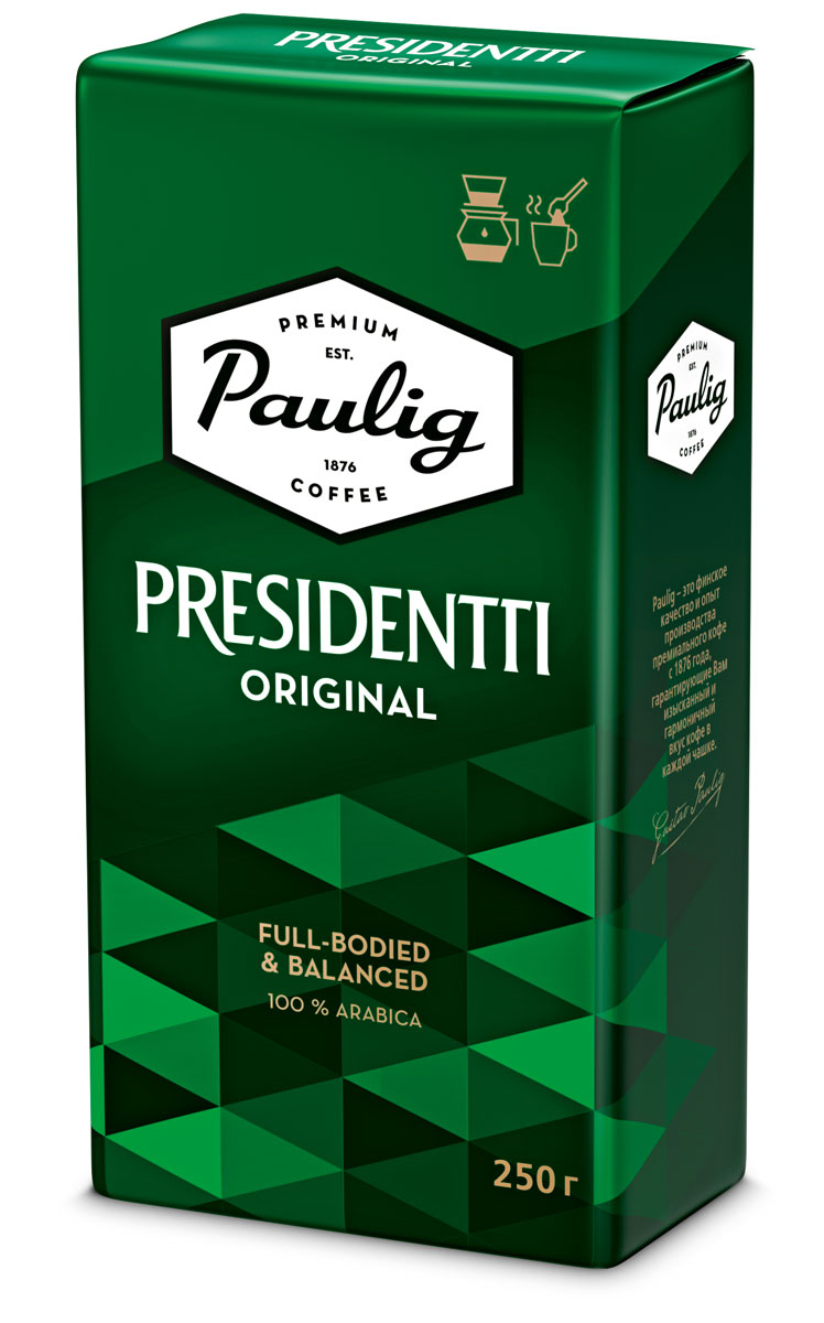 Paulig Presidentti Original кофе молотый, 250 г все цены