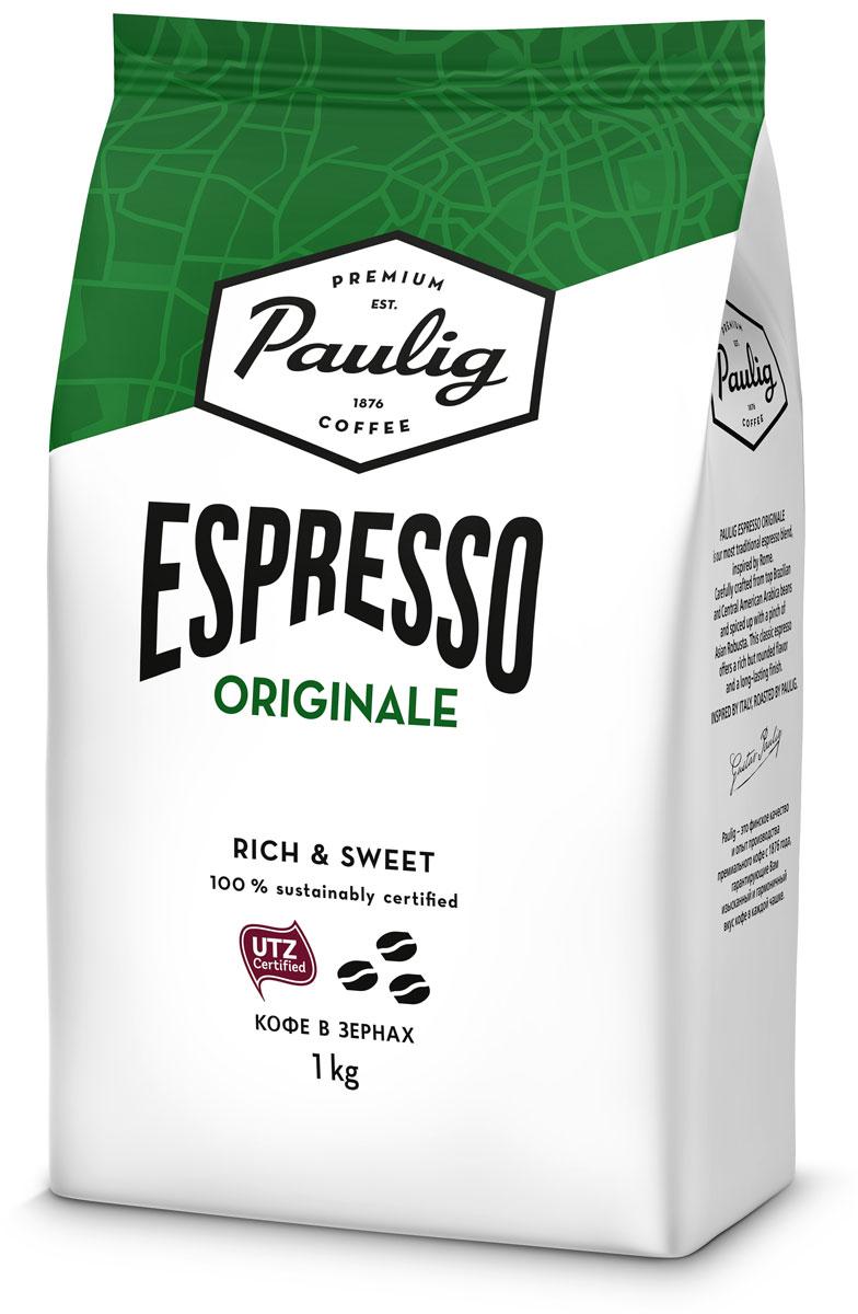 Paulig Espresso Originale кофе в зернах, 1 кг кофе paulig паулиг эспрессо оригинальный в зернах 250г пакет