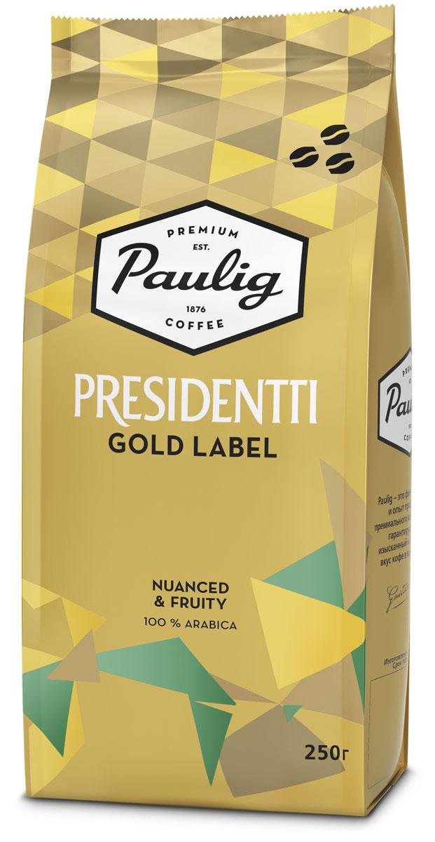 Paulig Presidentti Gold Label кофе в зернах, 250 г все цены
