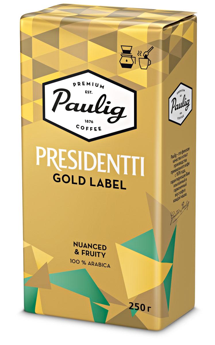 Paulig Presidentti Gold Lable кофе молотый, 250 г paulig classic кофе молотый 250 г