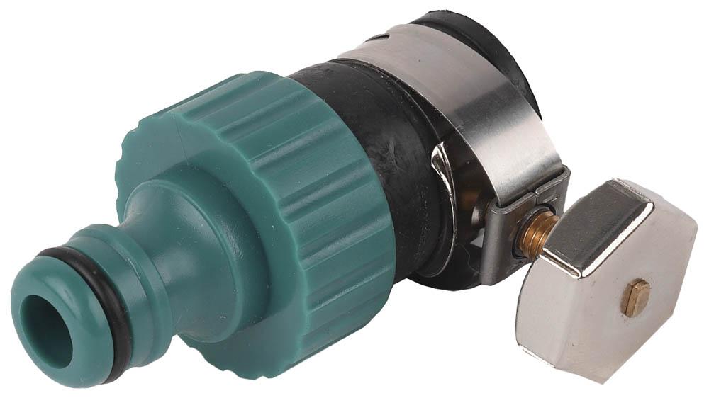 Адаптер поливного шланга Raco, Original, внешний, с хомутом. 4250-55223C муфта для поливного шланга raco original универсальная 4250 55174c