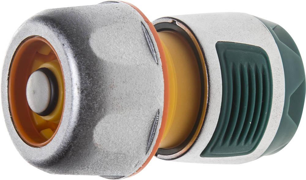 Фото - Соединитель шланга Raco, Profi Plus, усиленный, с автостопом. 4247-55100B соединитель шланг насадка с автостопом raco profi plus