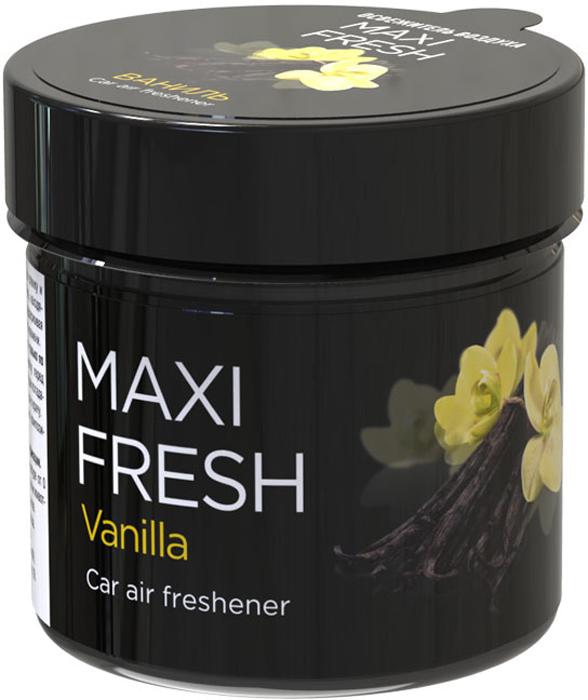 Ароматизатор воздуха автомобильный Maxi Fresh Ваниль, 100 г ароматизатор воздуха автомобильный maxi fresh цитрус и манго под сиденье 100 г
