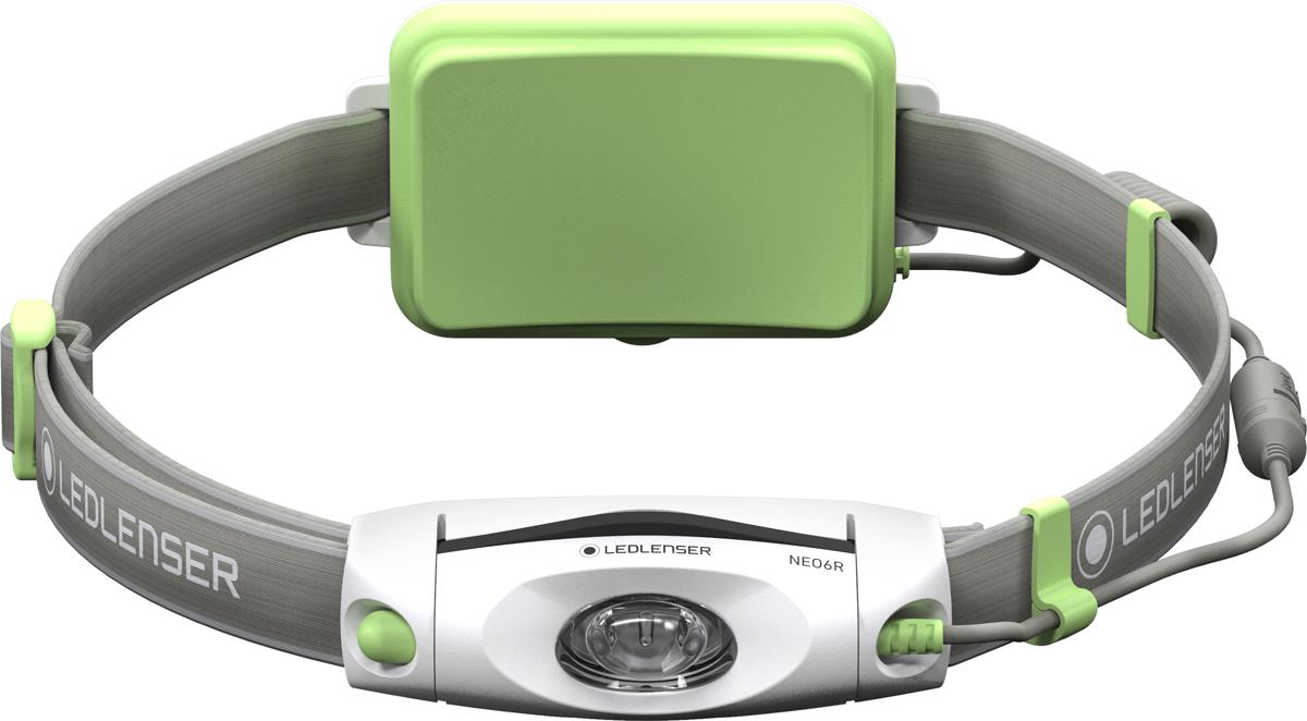 Фонарь налобный LED Lenser NEO6R, цвет: зеленый