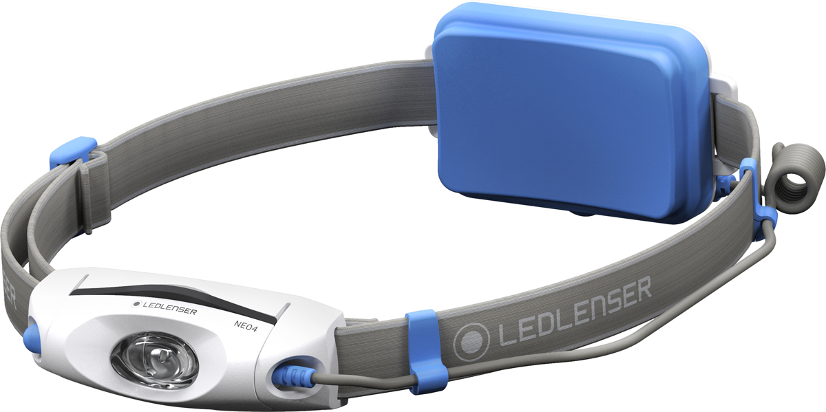 Фонарь налобный LED Lenser NEO4, цвет: синий