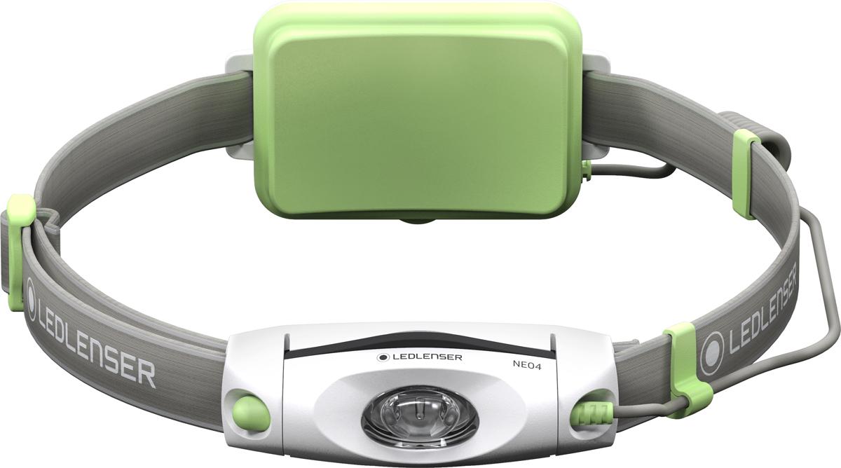 Фонарь налобный LED Lenser NEO4, цвет: зеленый
