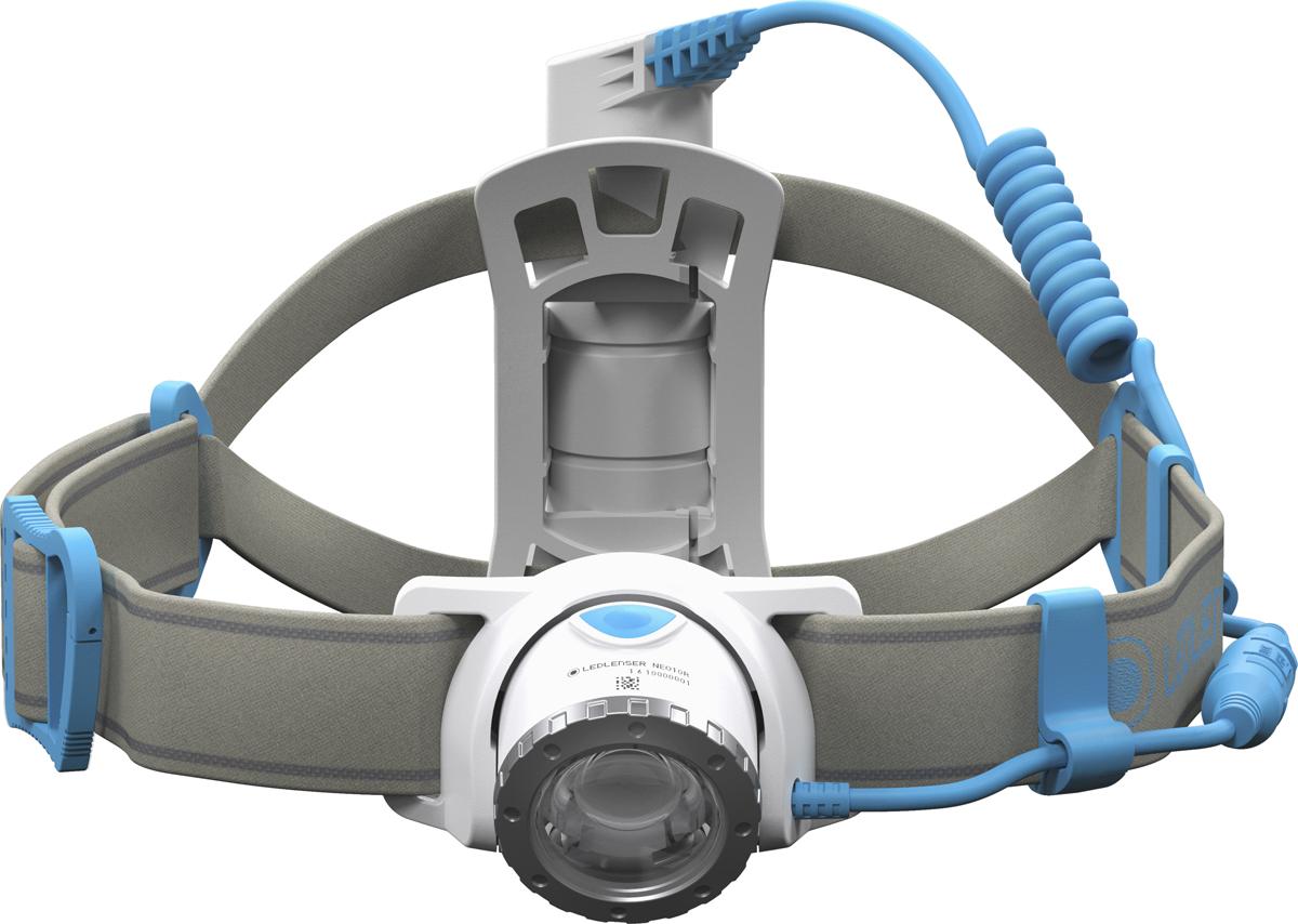 Фонарь налобный LED Lenser NEO10R, цвет: синий
