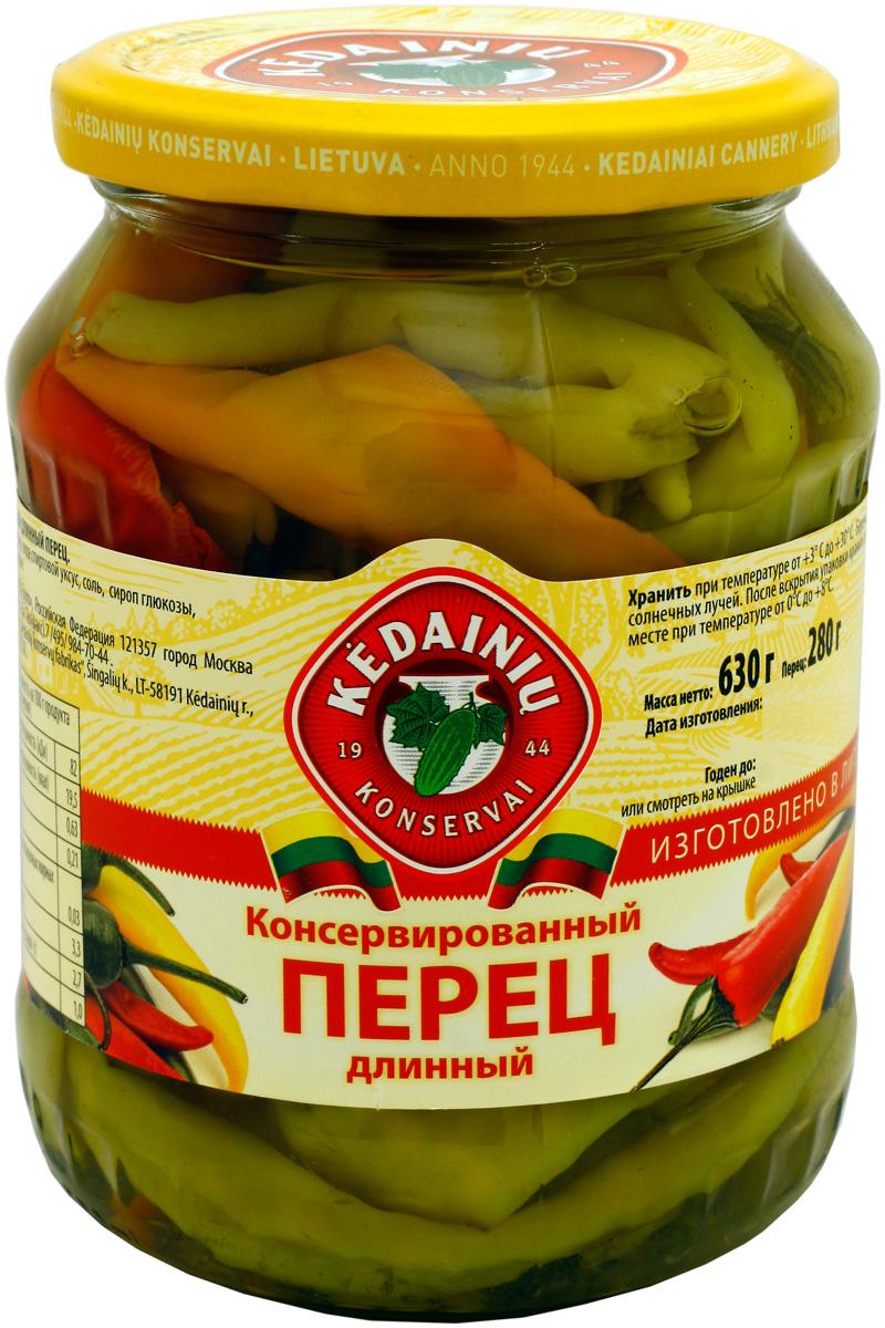 Kedainiu Перец стручковый кисло - сладкий, 620 г витамины содержащие железо