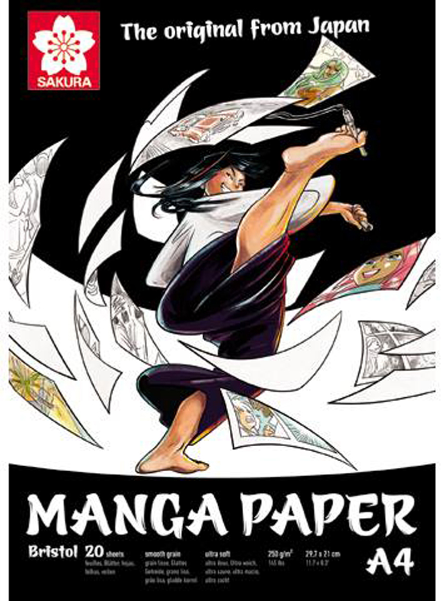 Sakura Блокнот для рисования Manga 20 листов формат A4