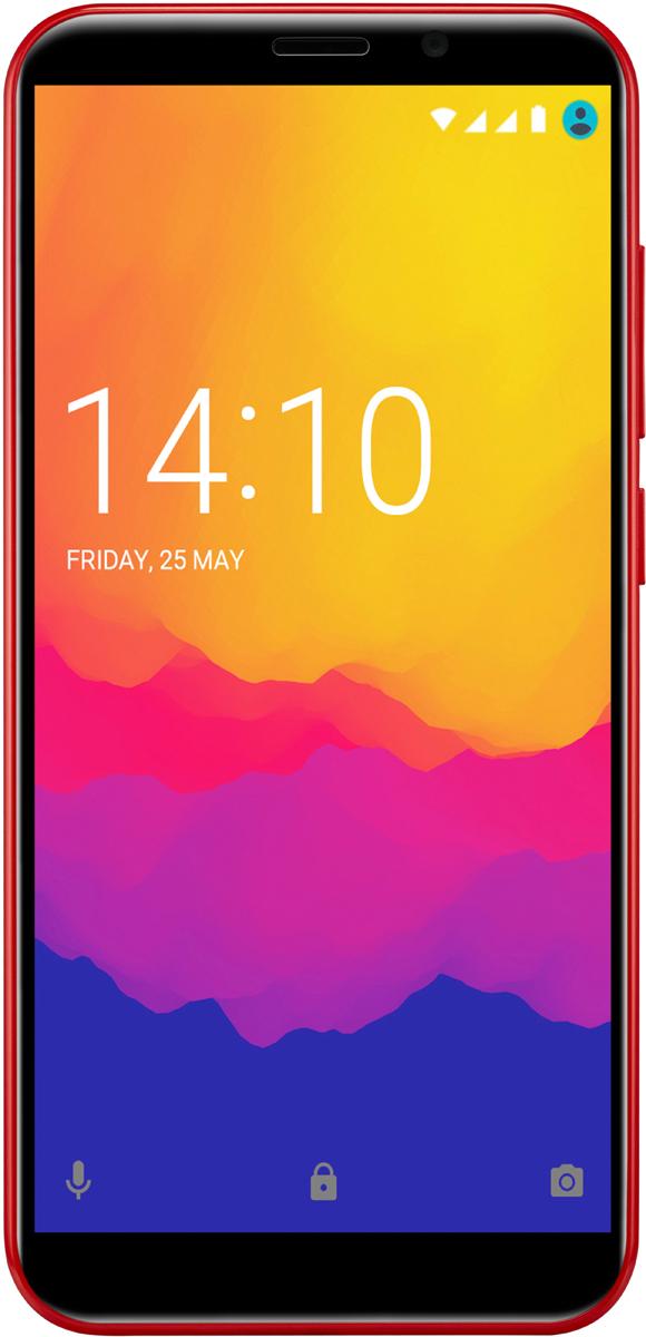 Смартфон Prestigio Prestigio Wize Q3 8 GB, красный смартфон prestigio wize q3 8 гб черный psp3471duoblack