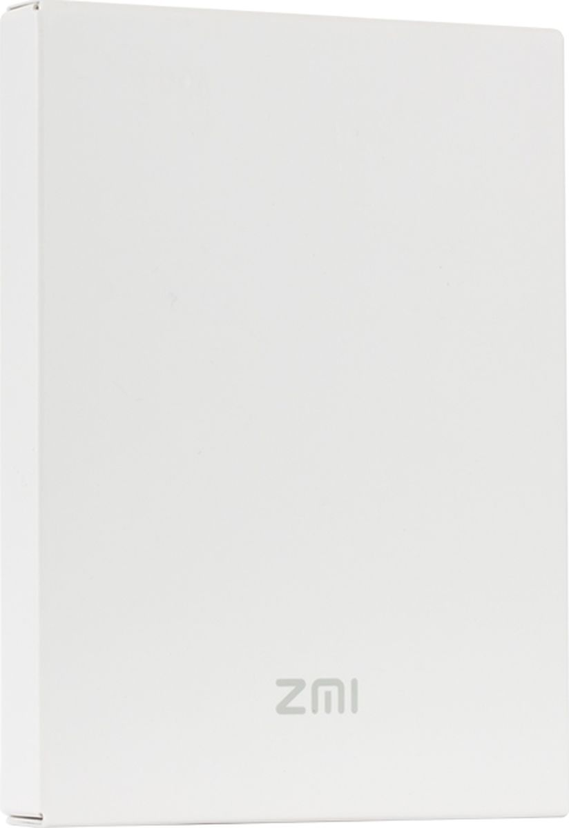 Внешний аккумулятор Xiaomi QB805 Power Bank Mi ZMI, White (5 000 mAh) xiaomi power bank mi zmi black внешний аккумулятор 10 000 mah