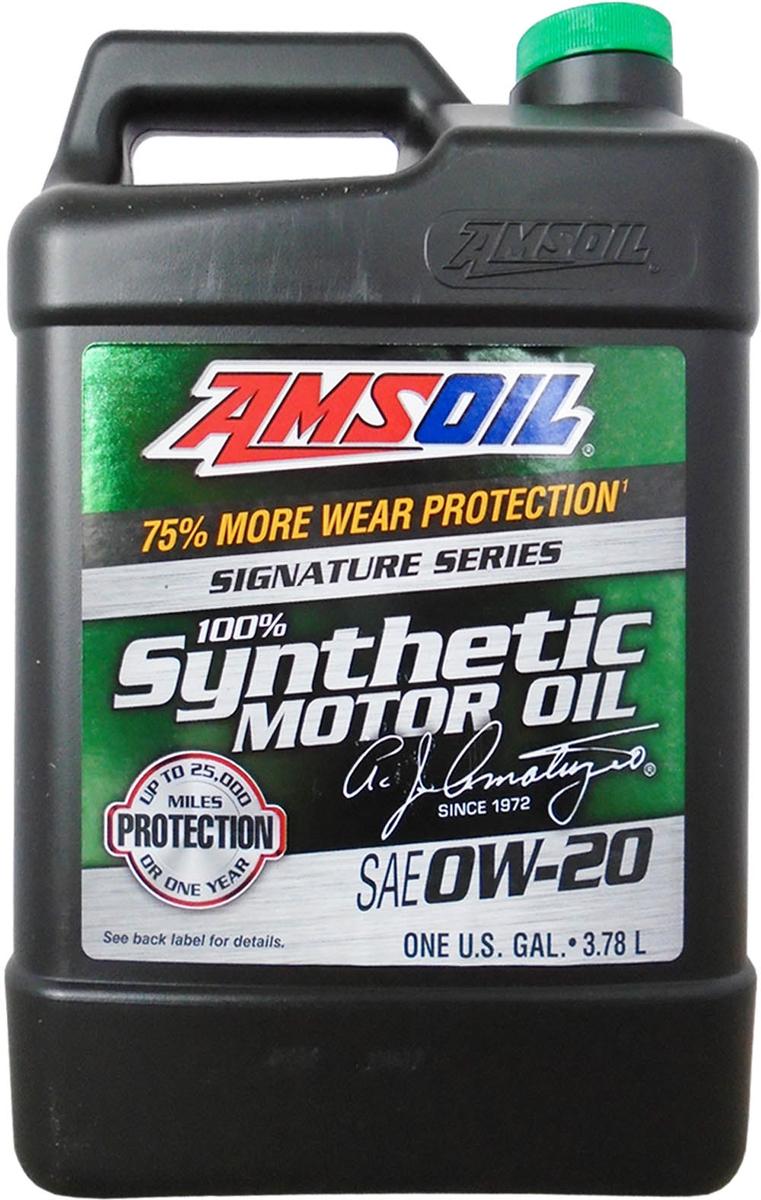 "Масло моторное Amsoil ""Signature Series Synthetic Motor Oil"", синтетическое, 0W-20, 3,78 л"