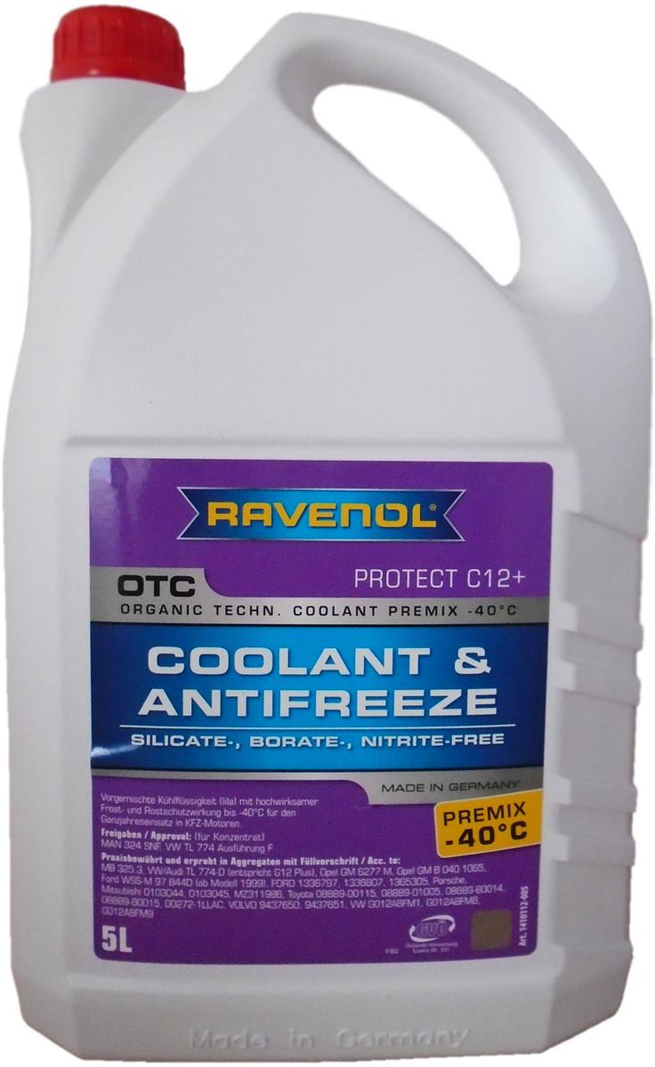 """Антифриз Ravenol """"OTC Organic Techn. Coolant Premix -40°C"""", готовый, цвет: лиловый, 5 л"""