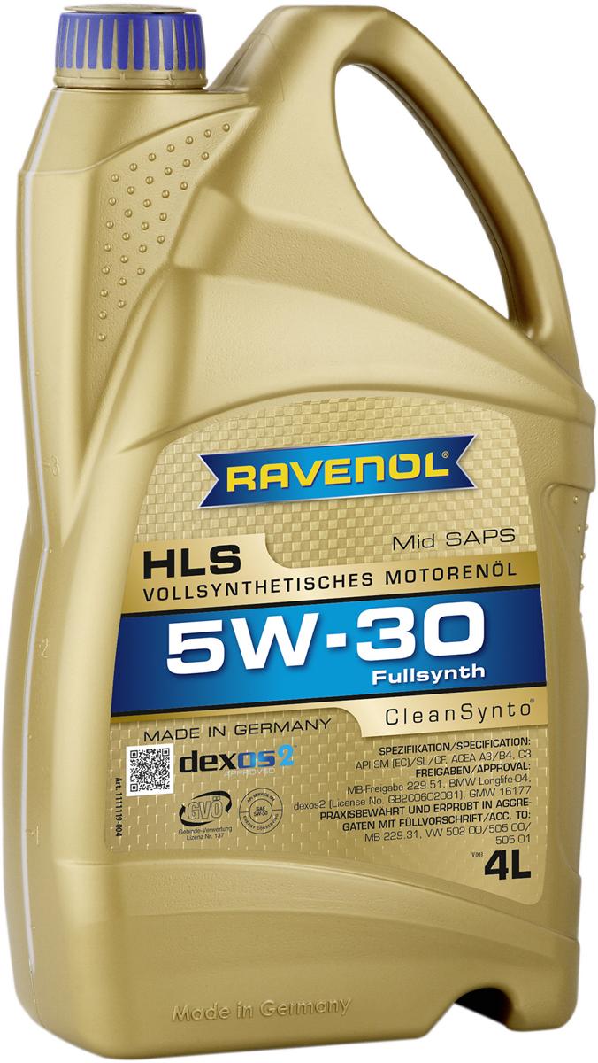 Масло моторное Ravenol HLS, синтетическое, 5W-30, 4 л original airtac compact slide cylinder roller bearing hls series hls12x100s