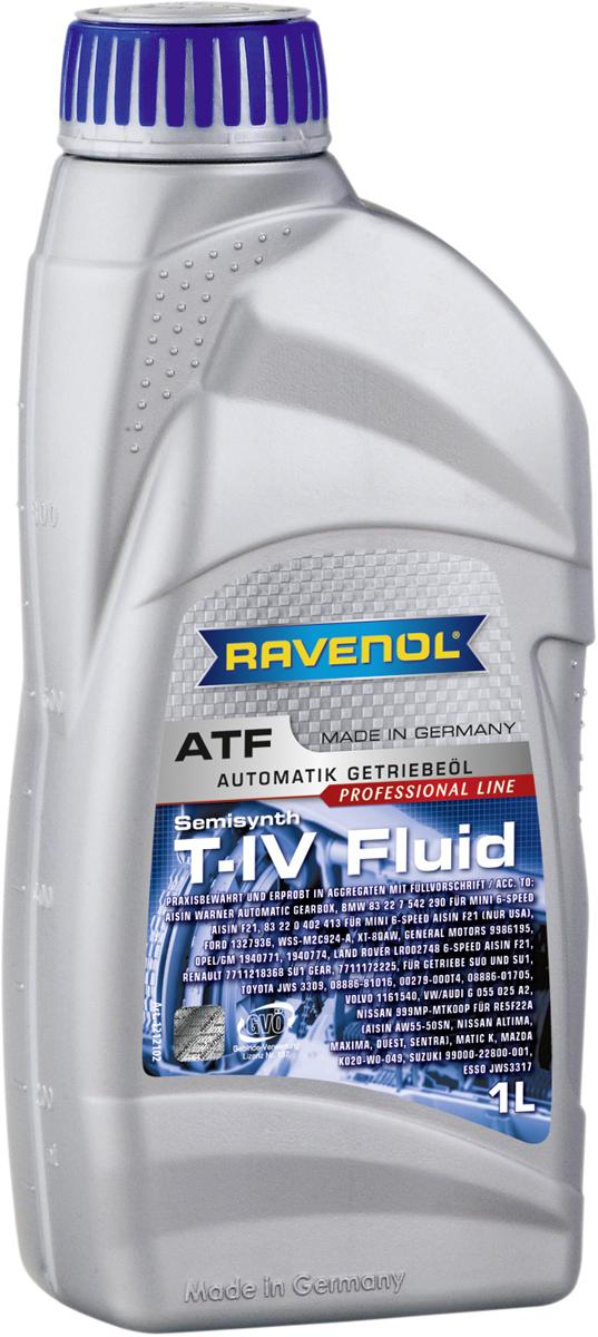"""Масло трансмиссионное Ravenol """"ATF T-IV Fluid"""", полусинтетическое, 1 л"""