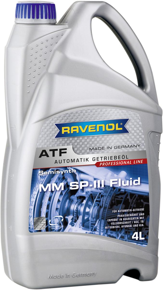 """Масло трансмиссионное Ravenol """"ATF MM SP-III Fluid"""", полусинтетическое, 4 л"""