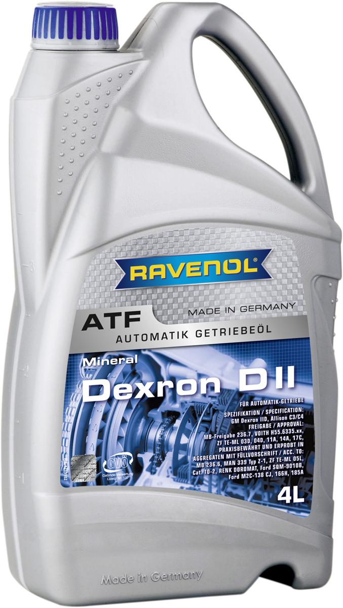 """Масло трансмиссионное Ravenol """"ATF Dexron DII"""", полусинтетическое, 4 л"""