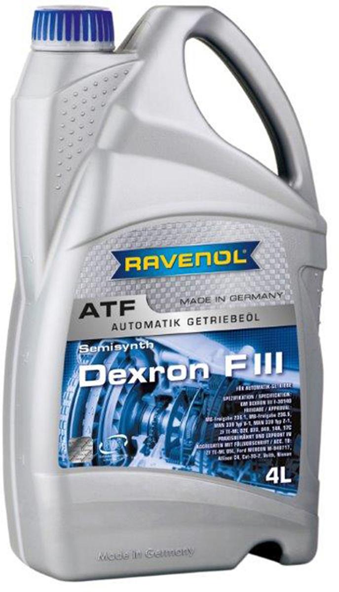 """Масло трансмиссионное Ravenol """"ATF Dexron F III"""", полусинтетическое, 4 л"""