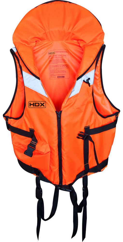Жилет спасательный HDX Рыбак, цвет: оранжевый. Размер S