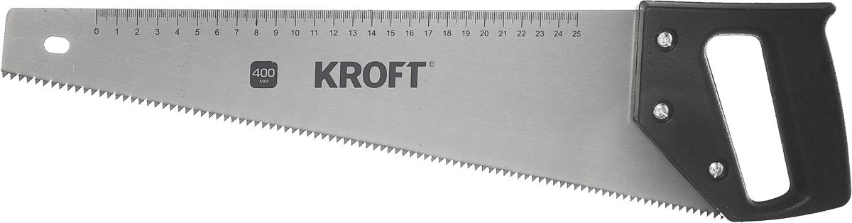 Ножовка по дереву Kroft, пластиковая рукоятка, 400 мм. 200140 ножовка по дереву brigadier lite