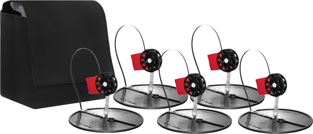 Набор жерлиц РОСТ, в сумке, цвет: черный, 5 шт набор original fit tools эспандеров трубчатых в защитных чехлах 5 шт и аксессуаров в сумке ft exset pro