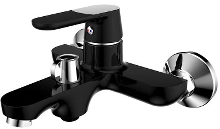 Смеситель для ванны РМС, вертикальный, цвет: черный. SL123BL-009E смеситель для ванны рмс sl77 белый с коротким изливом sl77w 009e