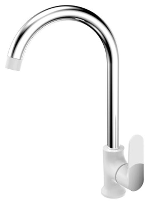 Смеситель для кухонной мойки РМС, горизонтальный, цвет: белый. SL123W-017F смеситель для кухонной мойки рмс горизонтальный цвет черный sl123bl 004f 25