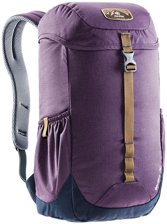 Рюкзак городской Deuter Walker, цвет: темно-синий, фиолетовый, 16 л городской рюкзак deuter futura 20 sl 20 л фиолетовый розовый 34194 3503