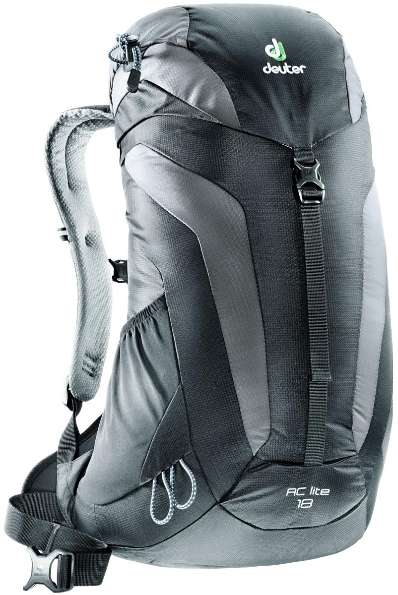 Рюкзак туристический Deuter AC Lite, цвет: серый, черный, 18 л