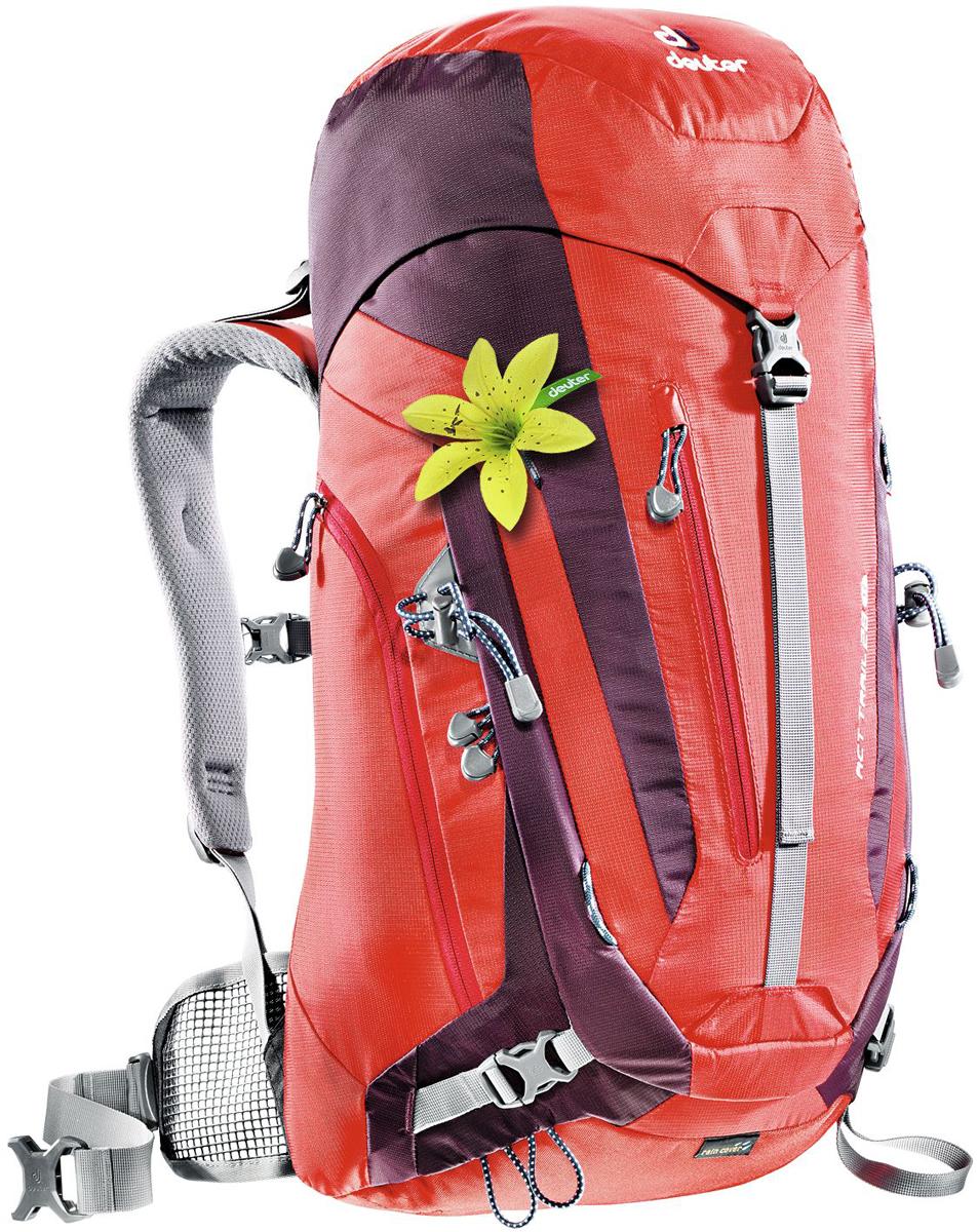 цена на Рюкзак туристический Deuter ACT Trail, цвет: бордовый, фиолетовый, 28 л