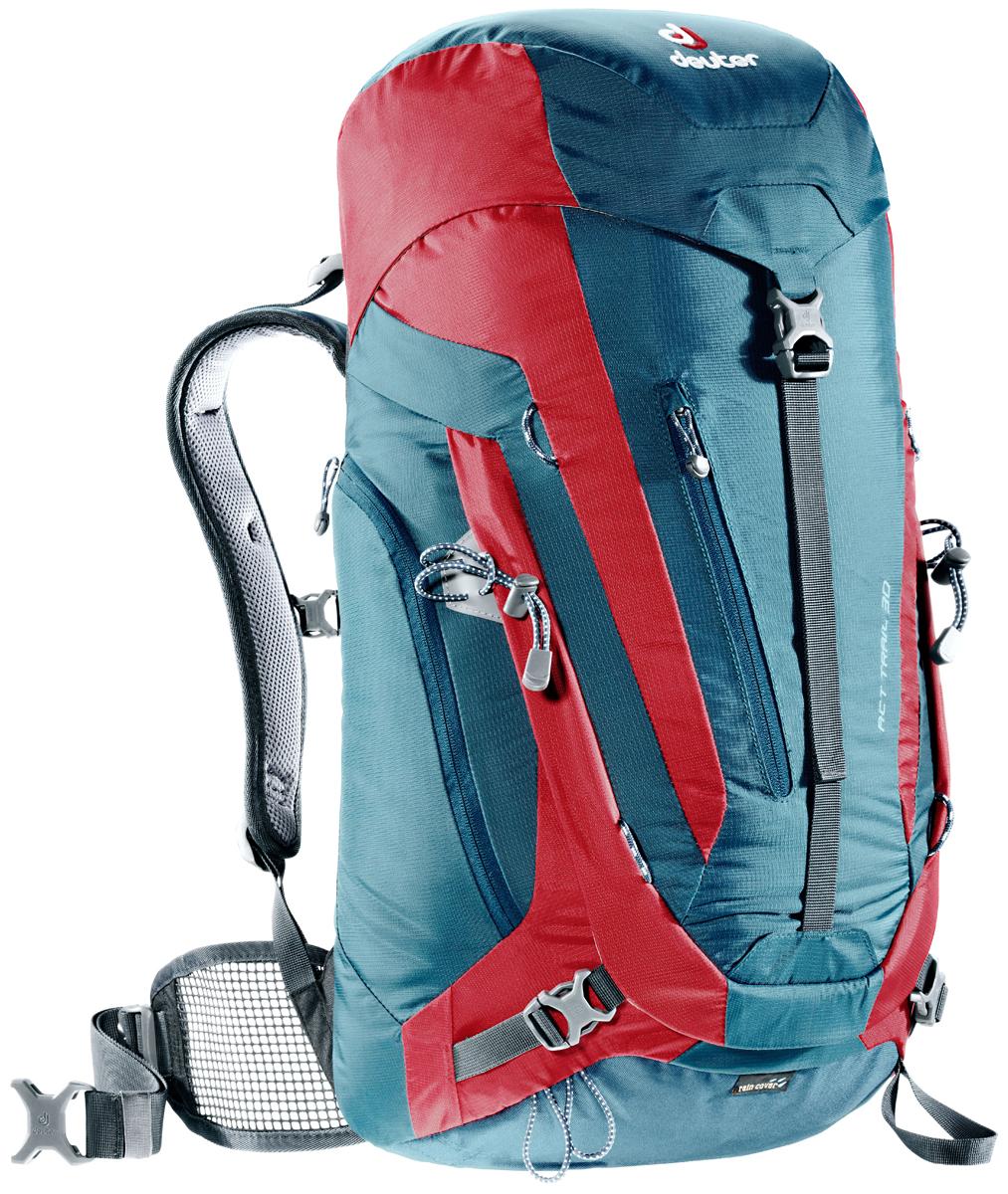 Рюкзак туристический Deuter ACT Trail, цвет: красный, темно-синий, 30 л цена