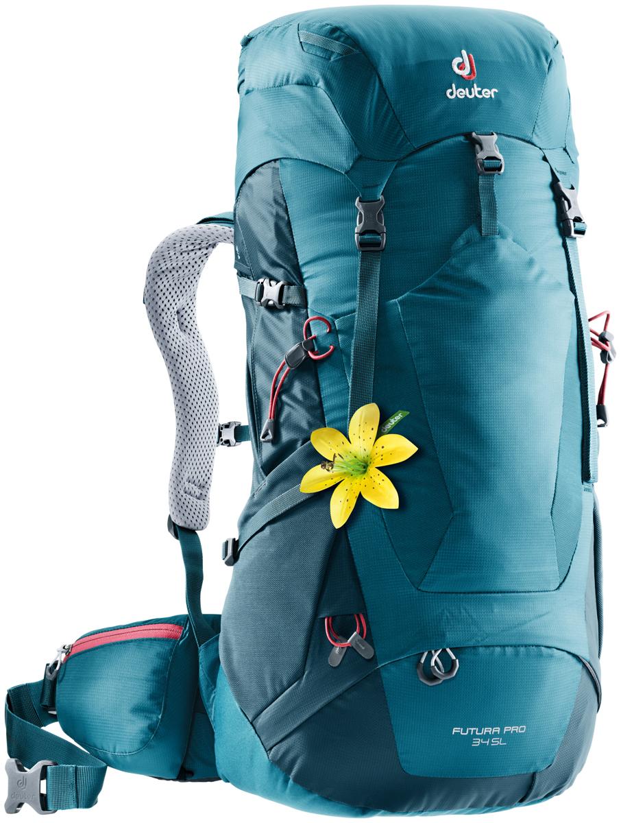 Рюкзак туристический Deuter Futura PRO, цвет: темно-синий, 34 л