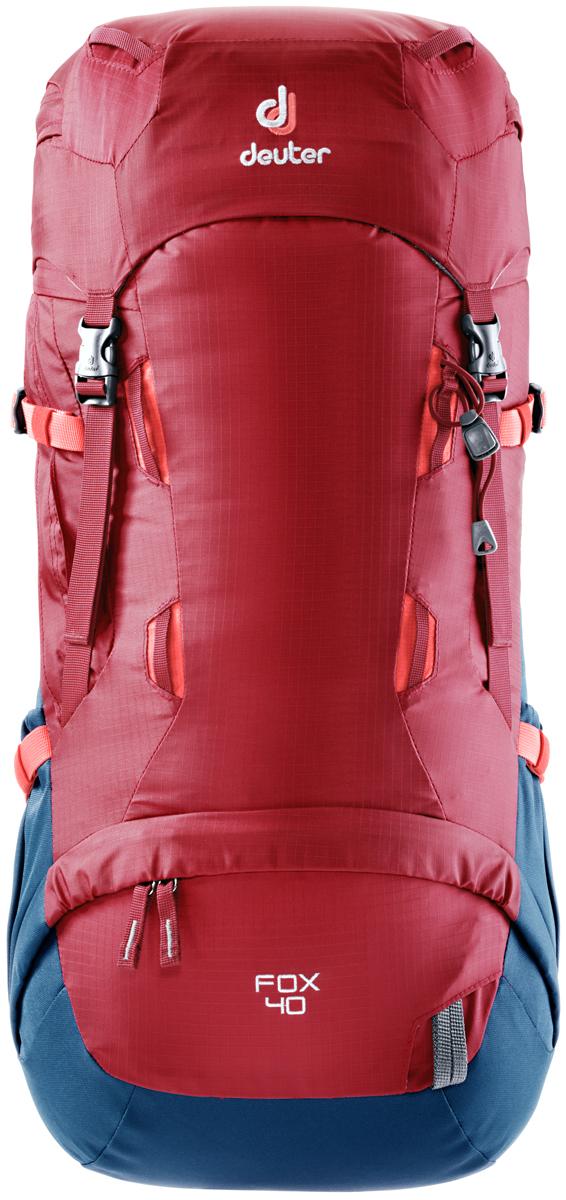 Рюкзак туристический Deuter Fox, цвет: красный, 40 л