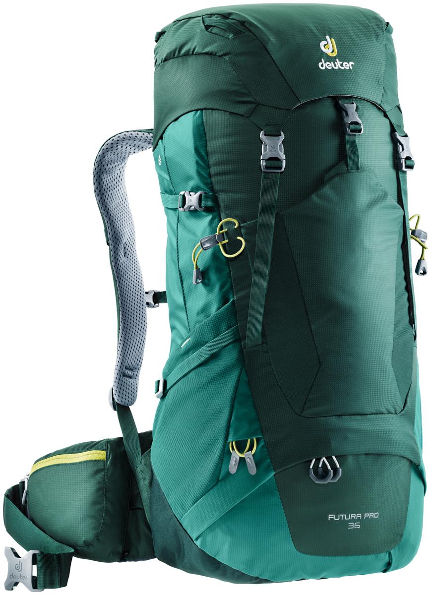Рюкзак туристический Deuter Futura PRO, цвет: зеленый, 36 л