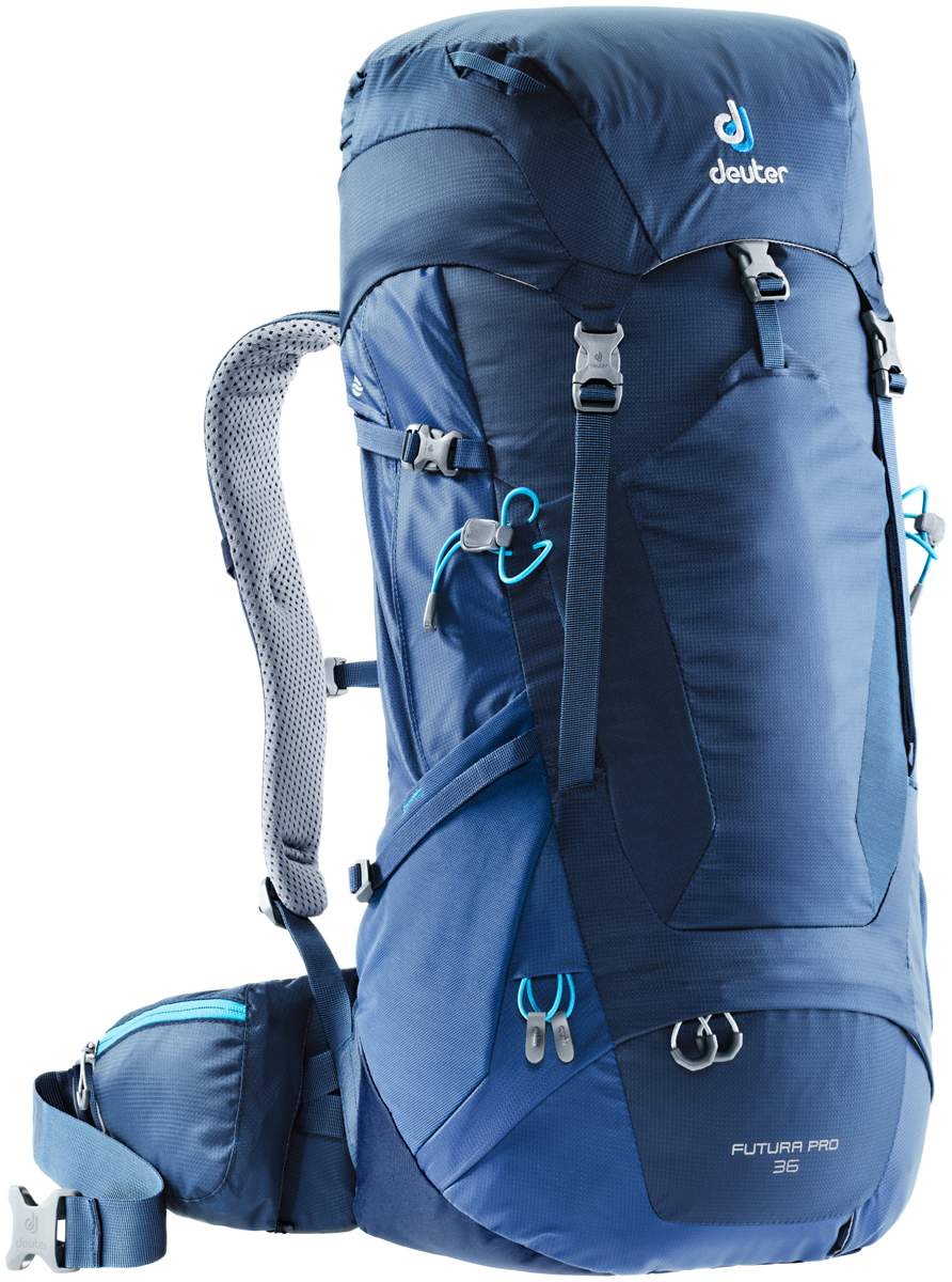 Рюкзак туристический Deuter Futura PRO, цвет: темно-синий, 36 л