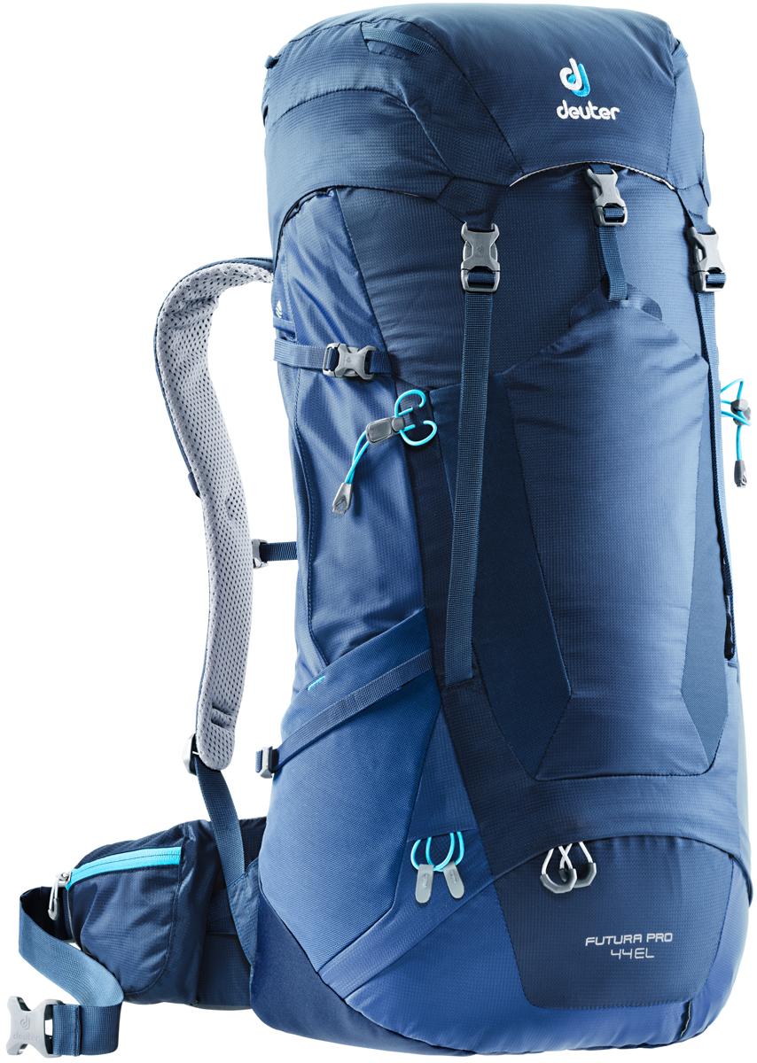 Рюкзак туристический Deuter Futura PRO, цвет: темно-синий, 44 л