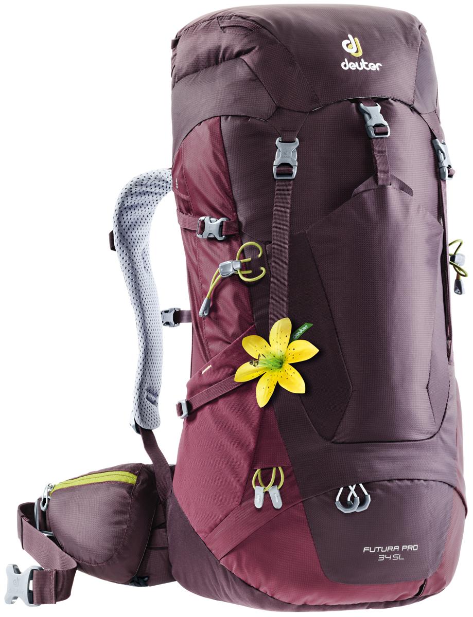 Рюкзак туристический Deuter Futura PRO, цвет: фиолетовый, 34 л