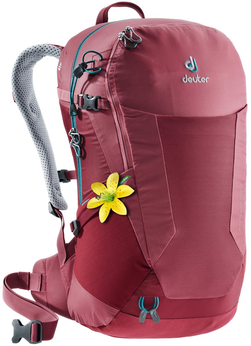 Рюкзак туристический Deuter Futura, цвет: красный, 22 л