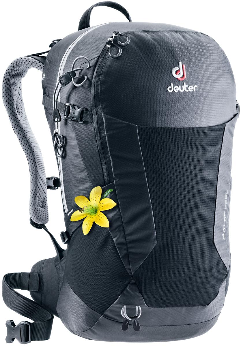 Рюкзак туристический Deuter Futura, цвет: черный, 22 л