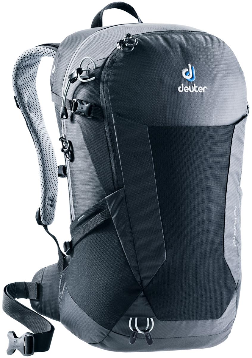 Рюкзак туристический Deuter Futura, цвет: черный, 24 л. 3400118_7000
