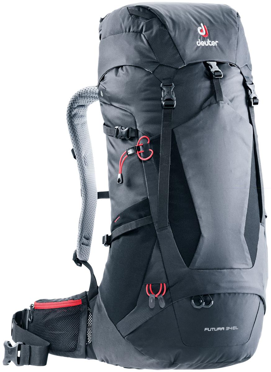 Рюкзак туристический Deuter Futura, цвет: черный, 34 л