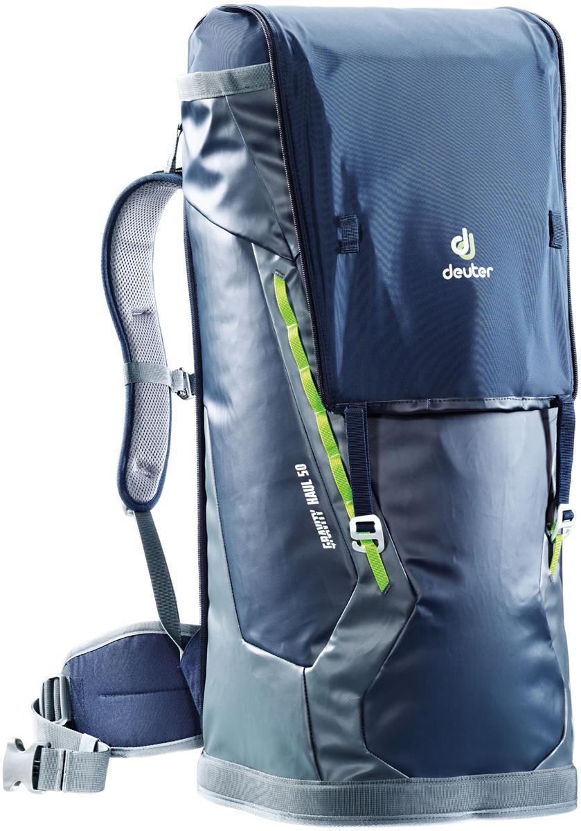 Рюкзак туристический Deuter Gravity Haul, цвет: темно-серый, темно-синий, 50 л