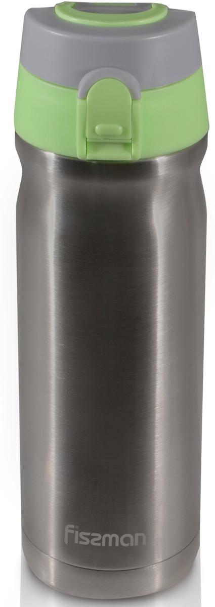 "Термокружка ""Fissman"", цвет: серый металлик, 500 мл"