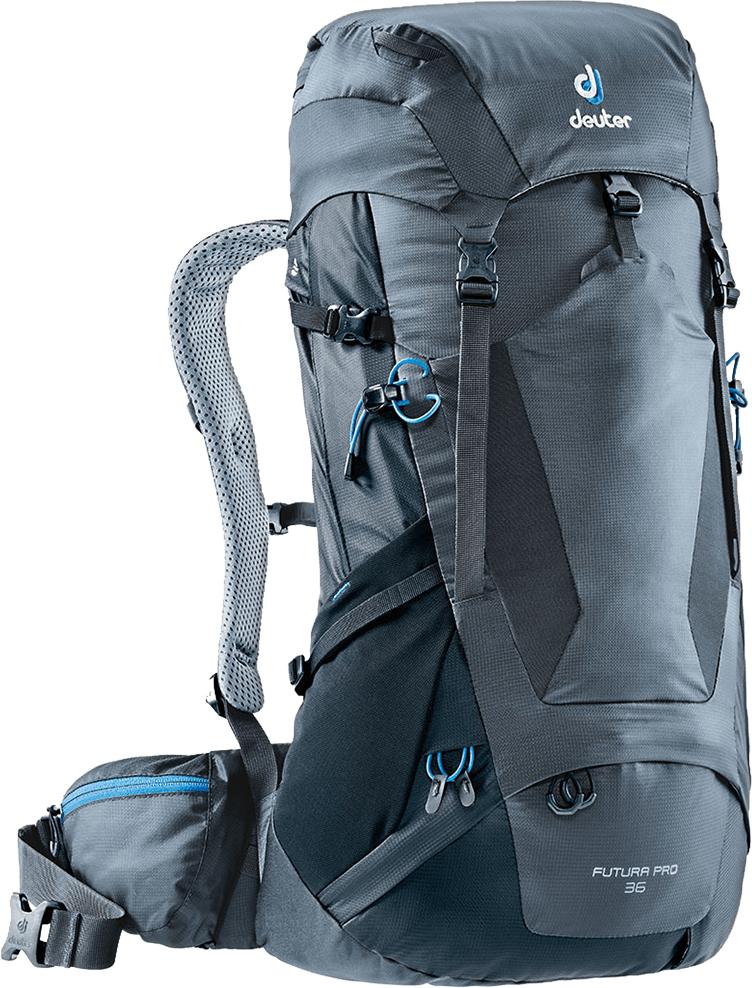 Рюкзак туристический Deuter Futura PRO, цвет: темно-серый, черный, 36 л