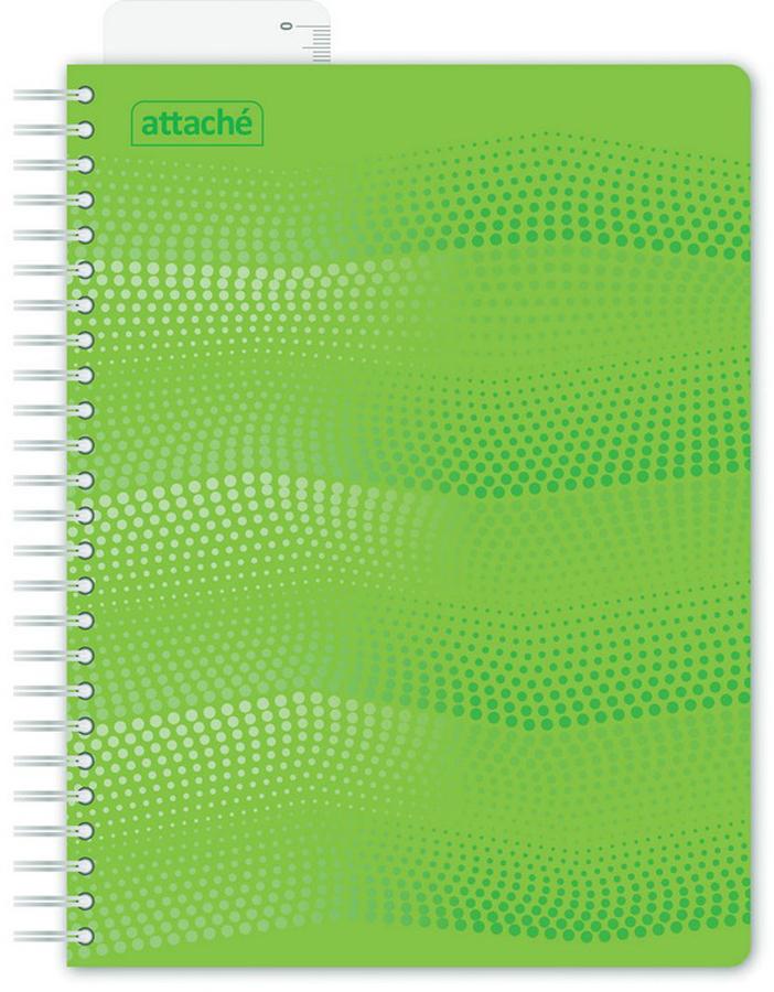 Attache Тетрадь Waves 100 листов в клетку формат А5 цвет зеленый