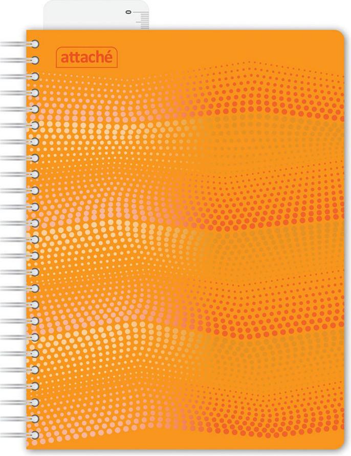 Attache Тетрадь Waves 100 листов в клетку формат А5 цвет оранжевый