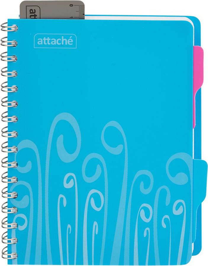 Тетрадь Attache Fantasy, цвет: голубой, А5, 140 листов в клетку блокнот attache fantasy a6 80 листов orange 309371