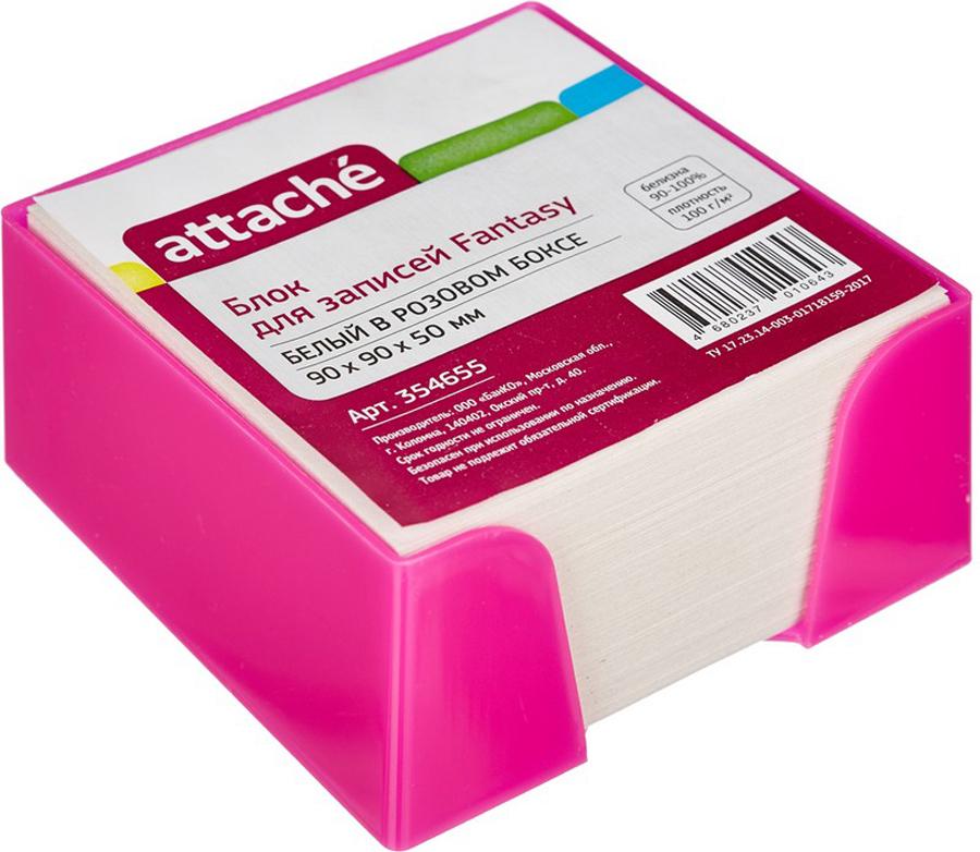 Attache Бумага для заметок Fantasy цвет розовый белый 9 см х 9 см х 5 см ручка attache harmony 0 5 mm
