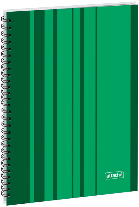 Тетрадь Attache Сoncept, цвет: зеленый, формат А4, 120 листов, в клетку marker тетрадь дрова 100 листов в клетку цвет коричневый